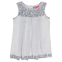 Buy Derhy Kids Girls' Sequin 20s Dress, Silver Online at johnlewis.com