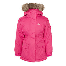 Buy Trespass Padded Coat with Quilted Fleece, Pink Online at johnlewis.com