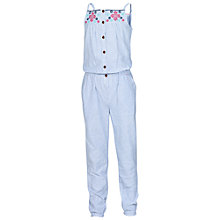 Buy Fat Face Ticking Stripe Jumpsuit, Cloud Online at johnlewis.com