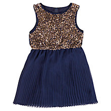 Buy Derhy Kids Girls' Sequin Party Dress, Blue/Gold Online at johnlewis.com