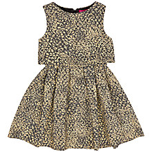 Buy Derhy Kids Girls' 2 in 1 Jacquard Dress, Black/Gold Online at johnlewis.com