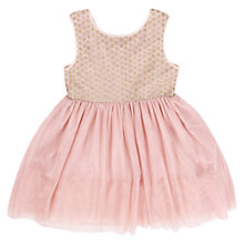 Buy Derhy Kids Girls' Mesh Glitter Dress, Rose Online at johnlewis.com