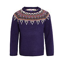 Buy John Lewis Girls' Fair Isle Jumper, Blue Online at johnlewis.com