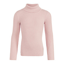 Buy John Lewis Girl Turtleneck Jumper, Pink Online at johnlewis.com