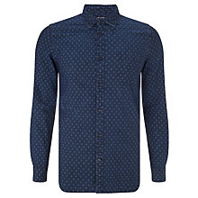 Buy JOHN LEWIS & Co. Diamond Chambray Shirt, Indigo Online at johnlewis.com