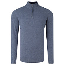Buy John Lewis Italian Merino Cashmere Zip Neck Knit Online at johnlewis.com
