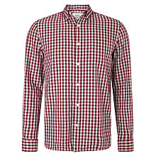 Buy John Lewis Brushed Cotton Twill Herringbone Gingham Shirt Online at johnlewis.com