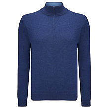 Buy John Lewis Made in Italy Cashmere Zip Neck Jumper Online at johnlewis.com