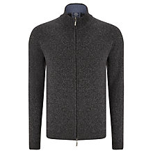 Buy John Lewis Made in Italy Merino Cashmere Zip Through Marl Jumper Online at johnlewis.com