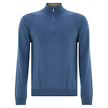 Buy John Lewis Cotton Cashmere Zip Neck Jumper Online at johnlewis.com