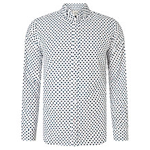 Buy John Lewis Long Sleeve Star Design Shirt, White Online at johnlewis.com
