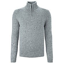 Buy John Lewis Frosty Zip Neck Jumper Online at johnlewis.com
