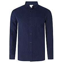 Buy John Lewis Long Sleeve Needlecord Shirt, Navy Online at johnlewis.com