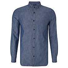 Buy JOHN LEWIS & Co. Diamond Dobby Cotton Shirt, Indigo Online at johnlewis.com