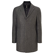 Buy John Lewis 2-in-1 Crombie Coat, Charcoal Online at johnlewis.com