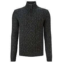 Buy John Lewis Frosty Cable Knit Zip Neck Jumper Online at johnlewis.com