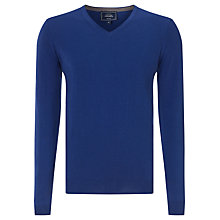 Buy John Lewis Cotton Cashmere V-Neck Jumper, Light Blue Online at johnlewis.com