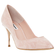 Buy Dune Ashlyn Leather Snakeskin Pointed Court Shoes Online at johnlewis.com