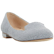 Buy Dune Gracee Leather Pointed Reptile Loafers, Grey Online at johnlewis.com