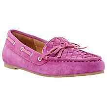 Buy Dune Glorius Suede Boat Shoes, Pink Online at johnlewis.com