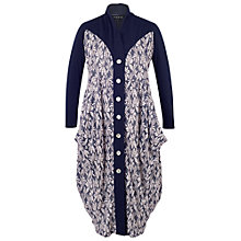 Buy Chesca Daisy Jersey Coat, Blue Online at johnlewis.com