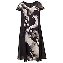 Buy Chesca Abstract Print Dress, Black/Ivory Online at johnlewis.com