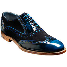 Buy Barker Grant Hi-Shine and Suede Brogue Oxford Shoes Online at johnlewis.com