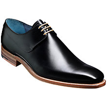 Buy Barker Kurt Leather Derby Shoes, Black Online at johnlewis.com