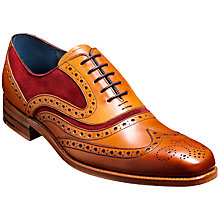 Buy Barker McClean 2-Tone Leather Brogue Oxford Shoes, Cedar Online at johnlewis.com