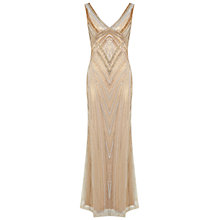 Buy Miss Selfridge Petite Melody Maxi Dress, Gold Online at johnlewis.com