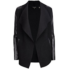 Buy Ted Baker Hazie Wool Wrap Jacket, Black Online at johnlewis.com