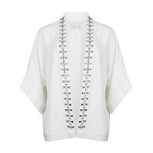Buy Ted Baker Vileza Embroidered Kimono, White Online at johnlewis.com