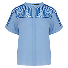 Buy Karen Millen Graphic Shirt, Blue Online at johnlewis.com