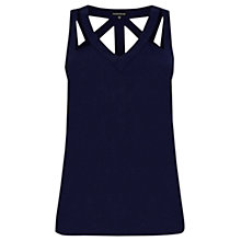 Buy Warehouse Cut Out Detail Vest Top, Navy Online at johnlewis.com
