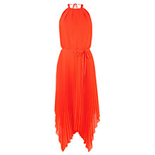 Buy Warehouse Hanky Hem Midi Dress, Shanghai Orange Online at johnlewis.com