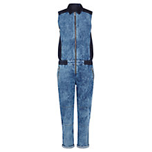 Buy Karen Millen Acid Wash Denim Jumpsuit, Denim Online at johnlewis.com