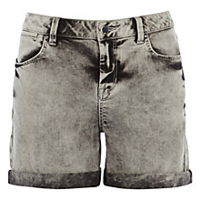 Buy Karen Millen Denim Shorts, Grey Online at johnlewis.com