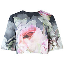 Buy Ted Baker Pure Peony Ombre Crop Top, Navy Online at johnlewis.com