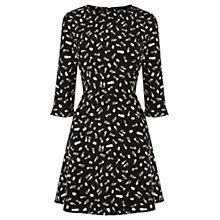 Buy Warehouse Smudgy Pattern Dress, Black Online at johnlewis.com