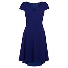 Buy Karen Millen Fluid Textured Draped Dress, Blue Online at johnlewis.com