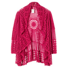 Buy East Circular Crochet Cardigan, Peony Online at johnlewis.com