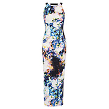 Buy Karen Millen Blurred Photographic Floral Print Dress, Multi Online at johnlewis.com