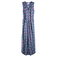 Buy East Ikat Print Jersey Maxi Dress, Plum Online at johnlewis.com