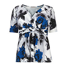 Buy Windsmoor Floral Print Top, Multi Online at johnlewis.com