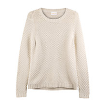 Buy East Waffle Stitch Jumper, Pearl Online at johnlewis.com
