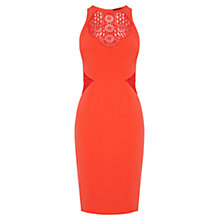 Buy Karen Millen Graphic Tribal Cutwork Dress, Orange Online at johnlewis.com