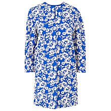 Buy L.K. Bennett Lyda Jacquard Coat, Cyan Online at johnlewis.com
