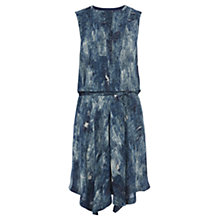 Buy Karen Millen Denim Print Sleeveless Dress, Blue Multi Online at johnlewis.com