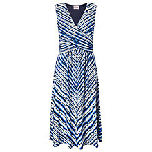 Buy Phase Eight Chevron Dress, Blue/White Online at johnlewis.com