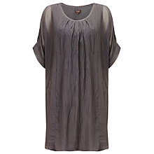 Buy Phase Eight Jenna Silk Tunic Dress, Charcoal Online at johnlewis.com